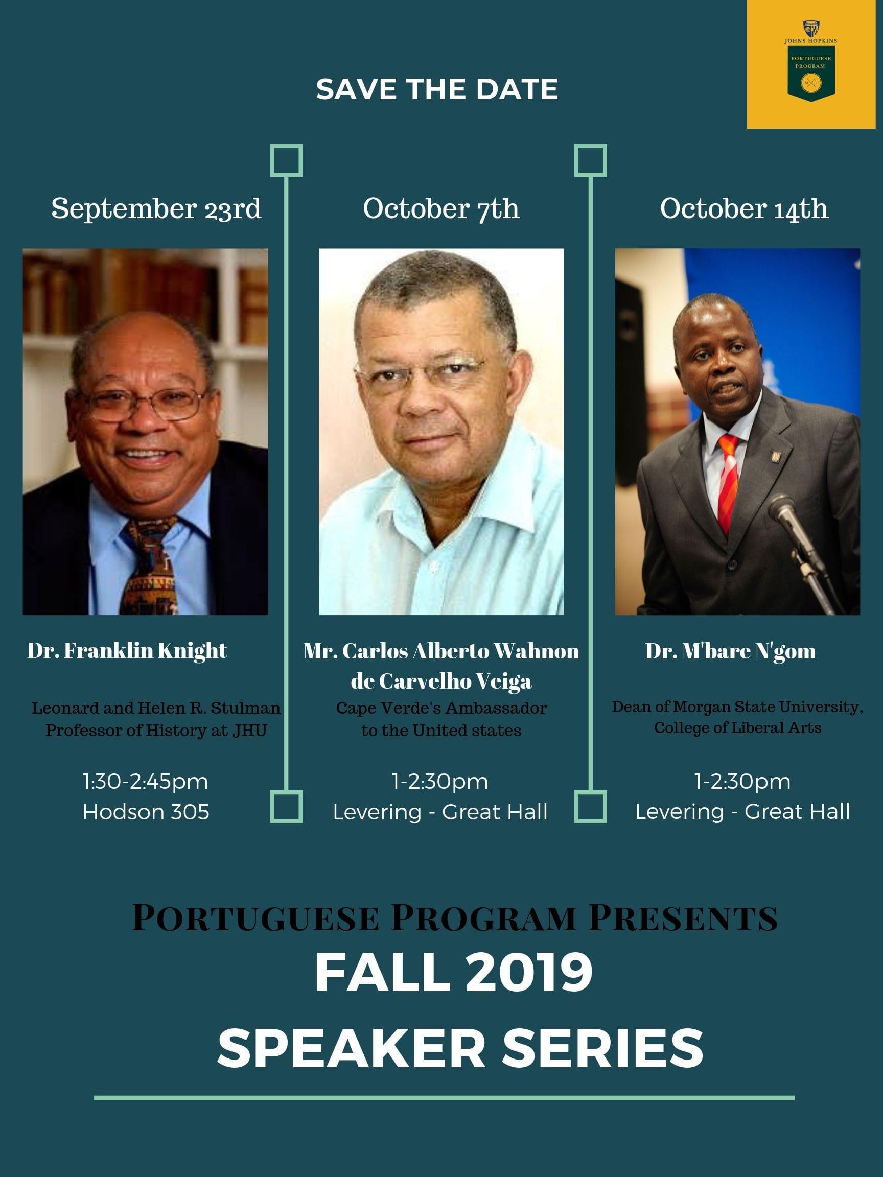 Portuguese Program Fall 2019 Speaker Series Lineup Announced