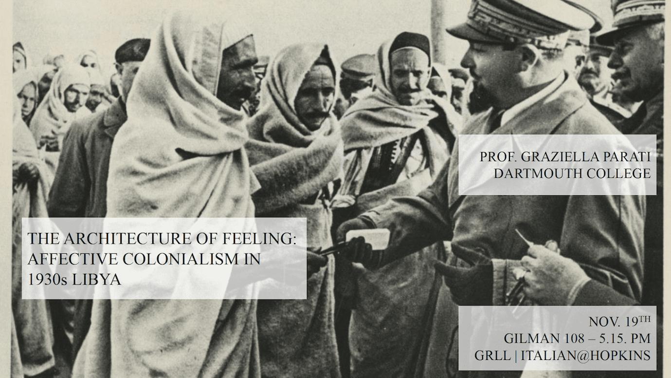 Affective Colonialism in 1930s Libya – Gilman 108, 5.15 PM- Nov. 19th