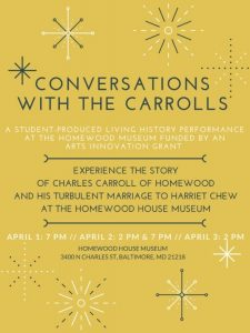 Conversations with the Carrolls event flyer