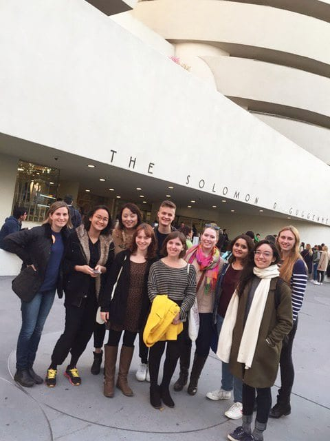 Students in course AS.389.358 (Fall 2016) visit the Guggenheim.