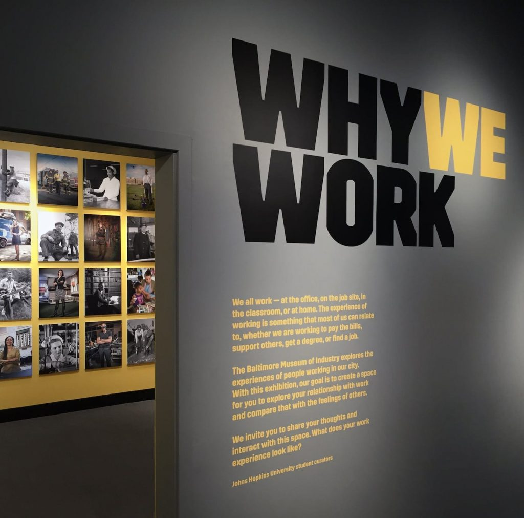Why We Work exhibit