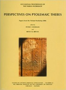 Perspectives on Ptolemaic Thebes Book Cover