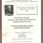 Albright lecture 2018 event flier