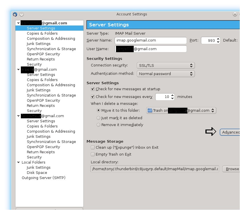 Thunderbird Configuration for Exchange Accounts – Departmental Resources