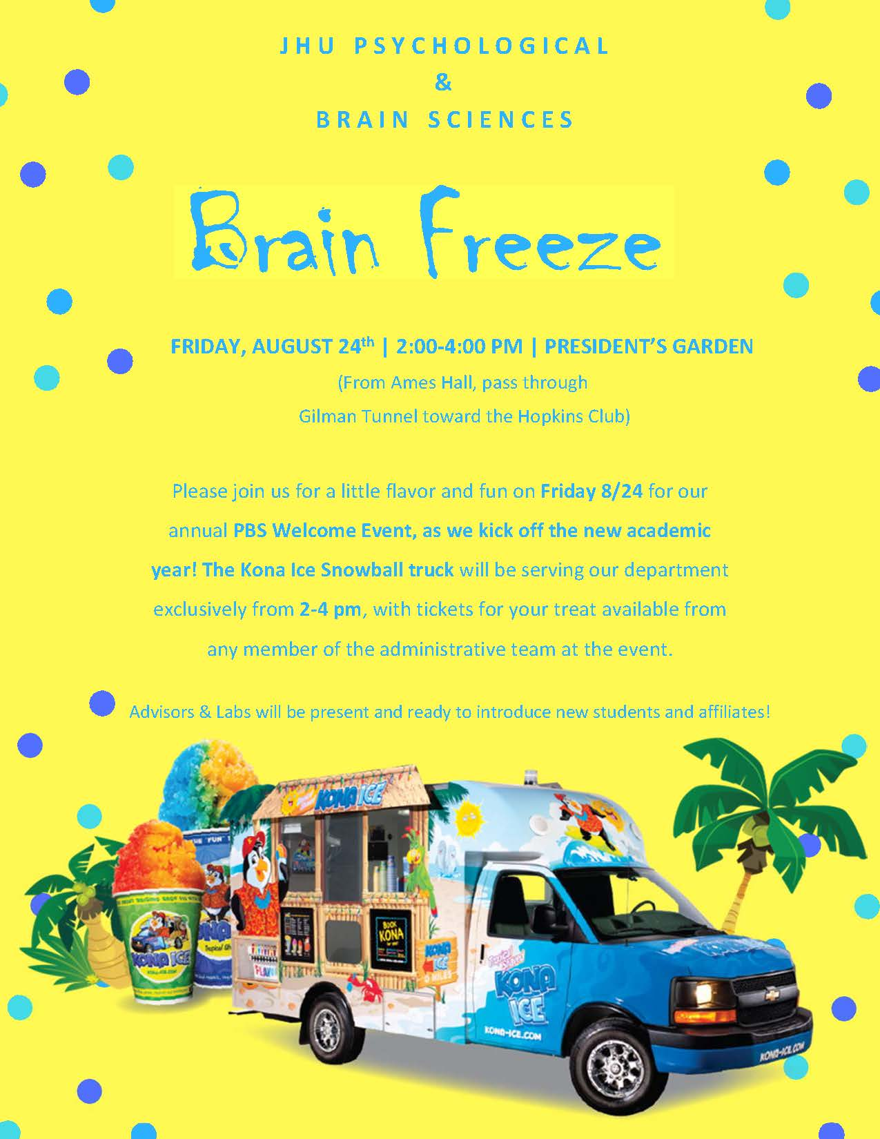 Psychology Welcome Event: Brain Freeze!