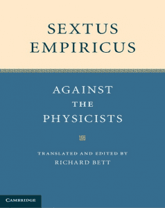 Sextus Empiricus' Against the Physicians