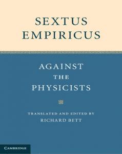 Sextus Empiricus' Against the Physicians