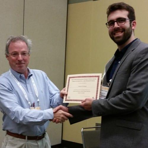 Thomas O'Connor receives award from APS