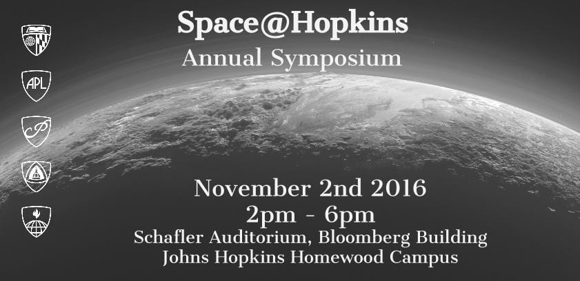 Inaugural Space@Hopkins Symposium Scheduled for November 2nd at 2pm in Schafler Auditorium, RSVP to Secure a Seat