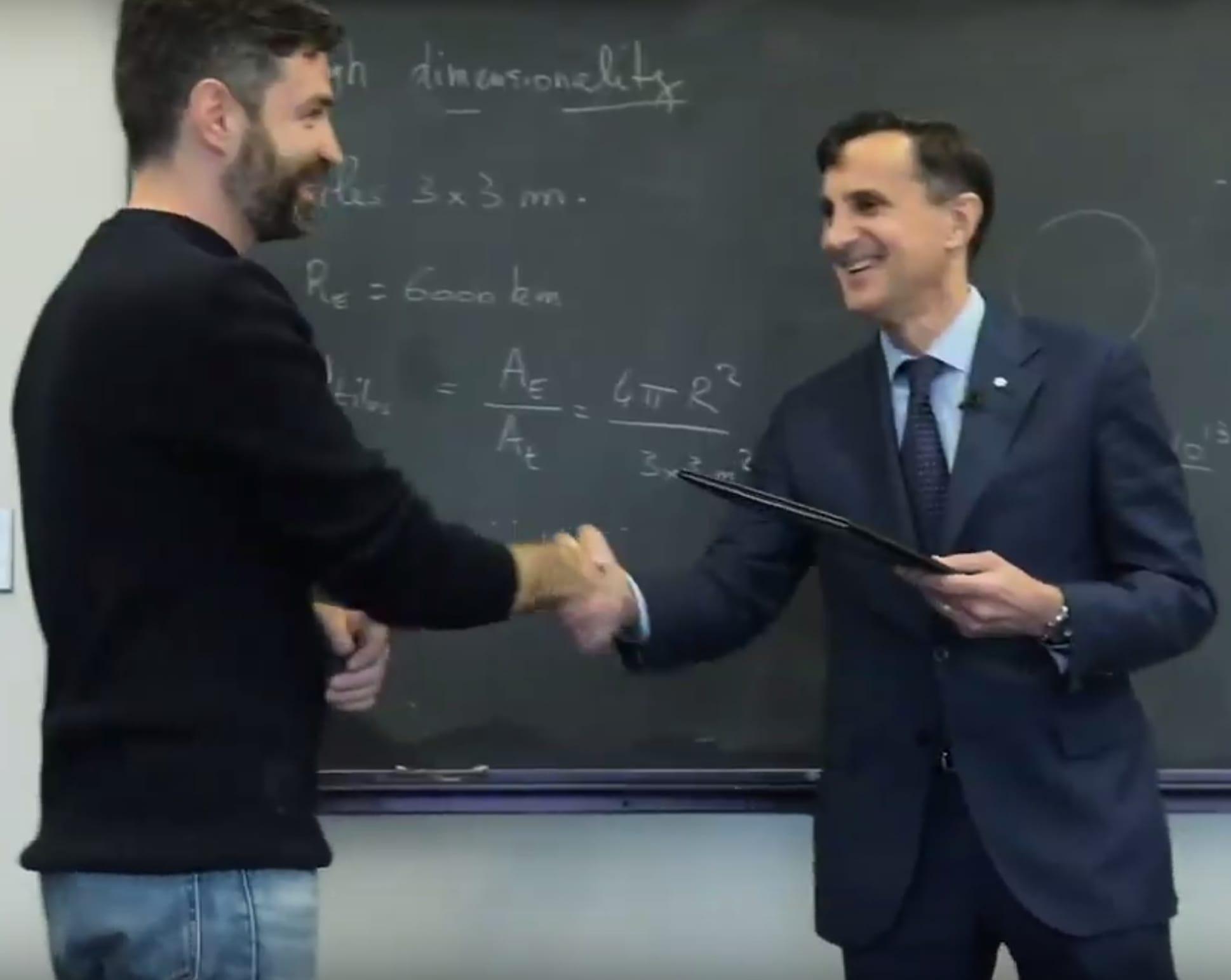 Brice Ménard Receives President's Frontier Award