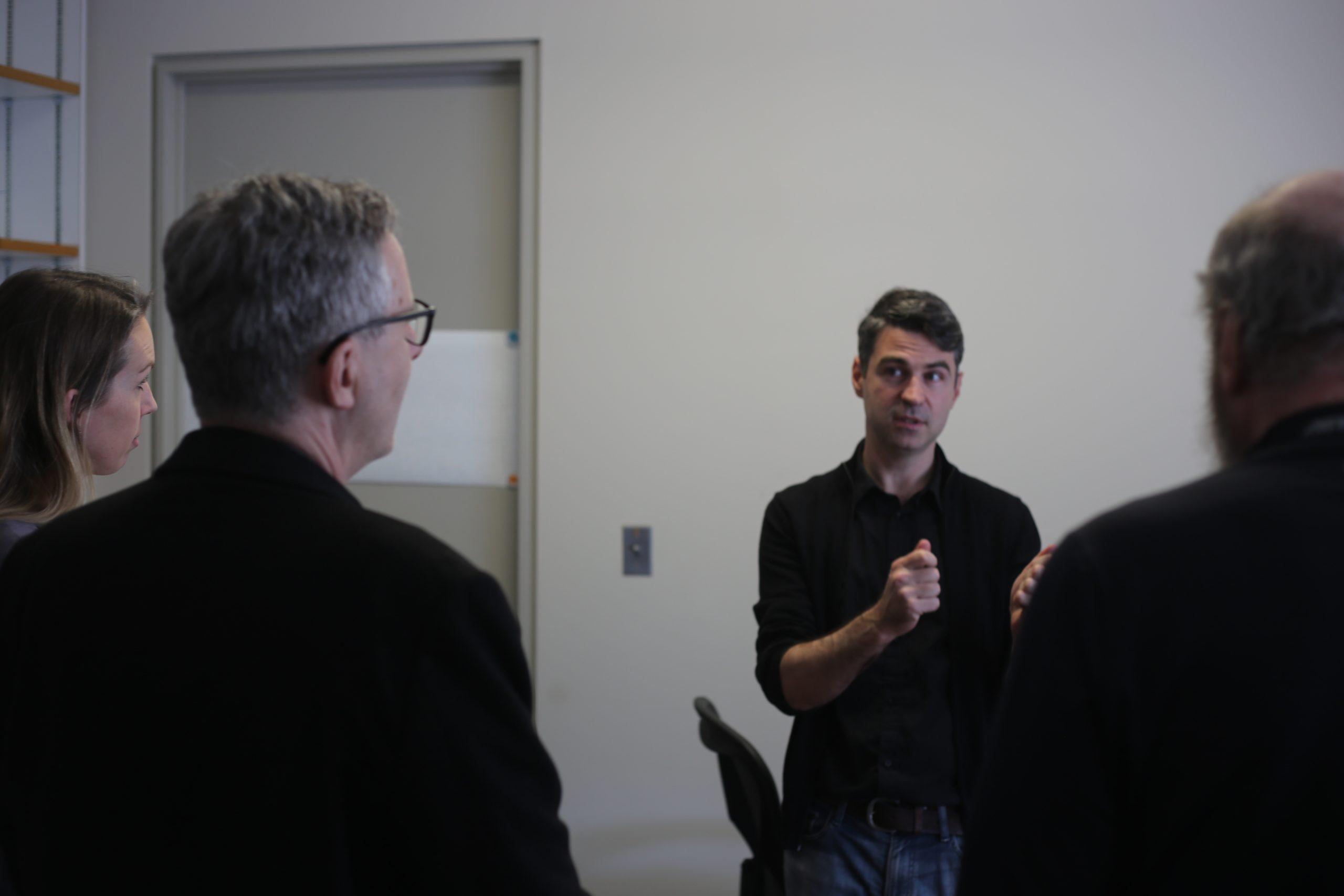 Yi Li, Tyrel McQueen, and Brice Ménard Participate in Faculty Open Doors Event