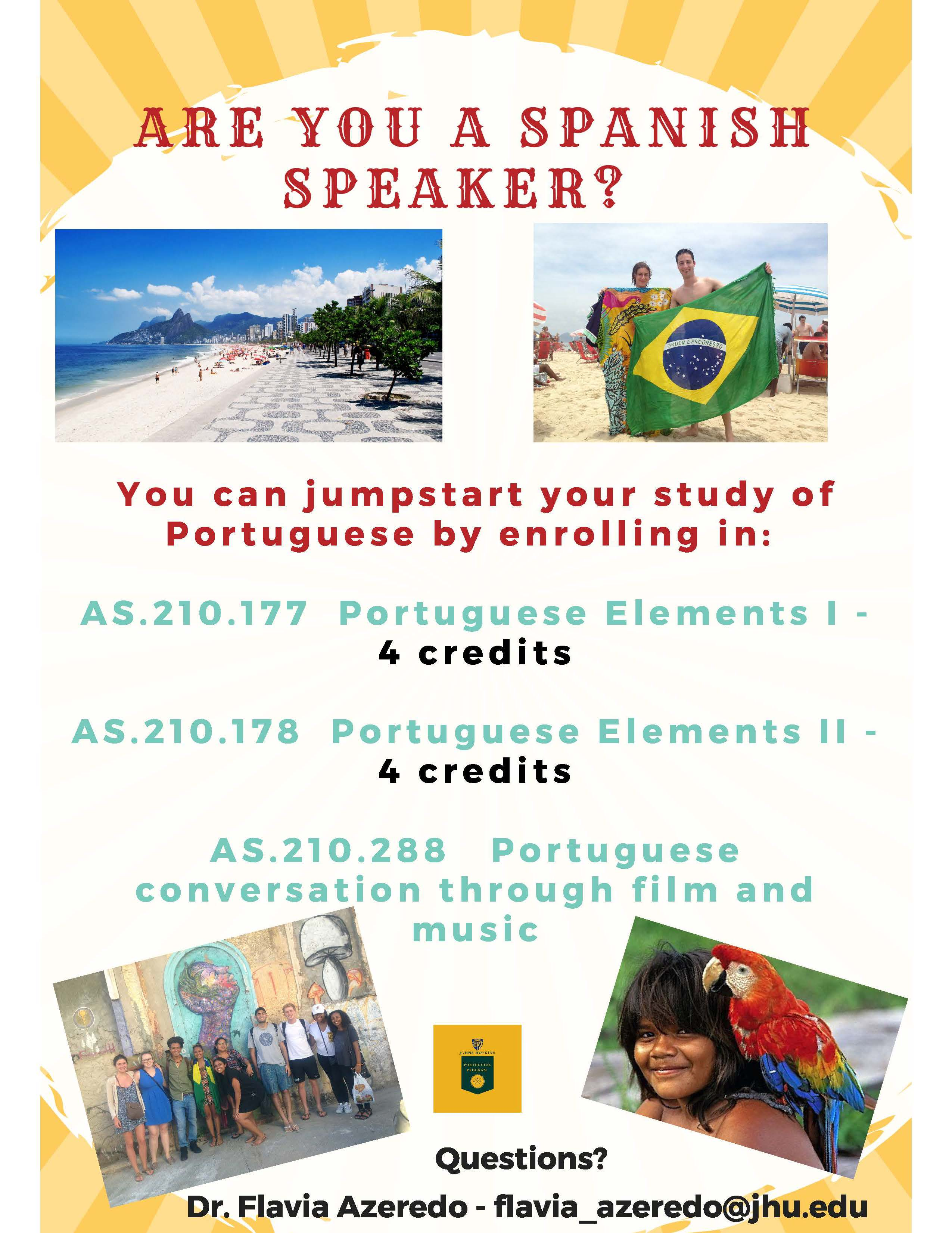 Portuguese Class Offerings Fall 2018