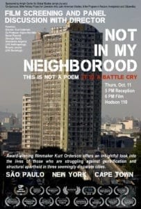 """Not in My Neighborhood"" screening and panel discussion October 11, 2018"
