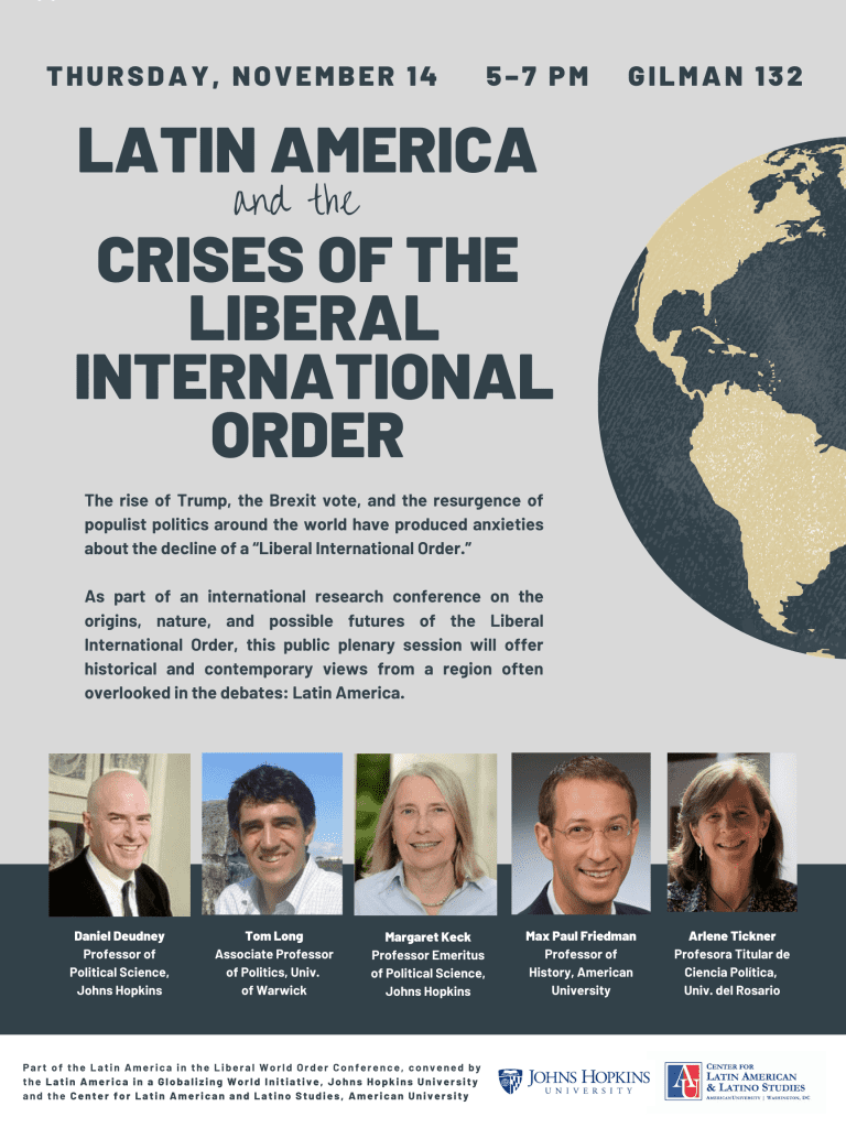 Latin America and the Crises of the Liberal International Order Plenary Session