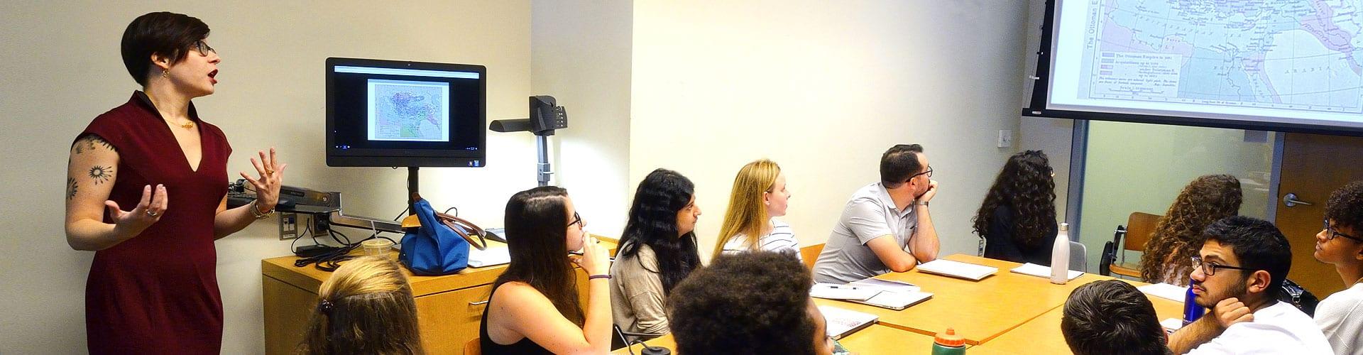 Professor Sarah Parkinson teaching undergraduate class
