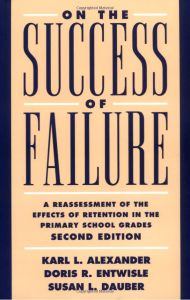 On the Success of Failure: A Reassessment of the Effects of Retention in the Primary School Grades
