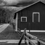 black and white farmhouse