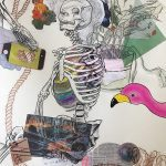 collage with human skeleton