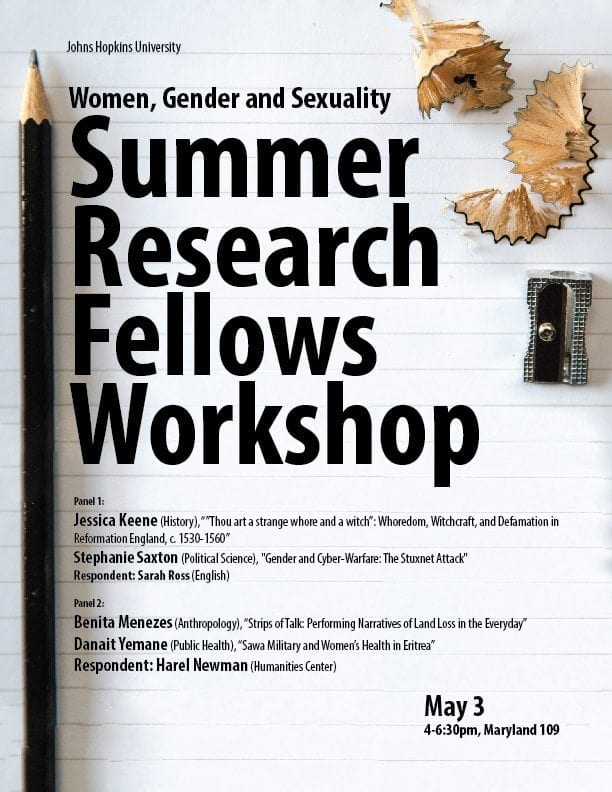 WGS Summer Research Fellows Workshop