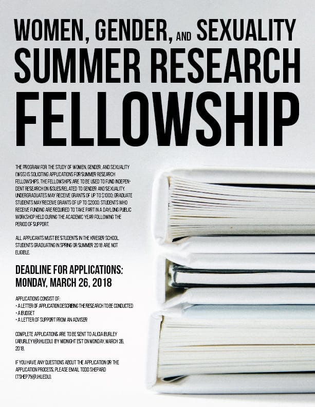 WGS Summer Research Fellowships 2018