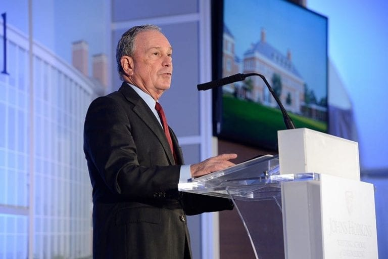Michael Bloomberg gives record $1.8 billion to Johns Hopkins for financial aid