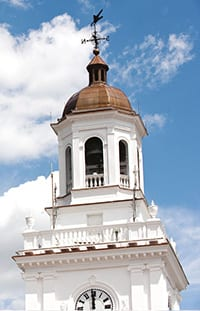 Gilman bell tower on blue sky