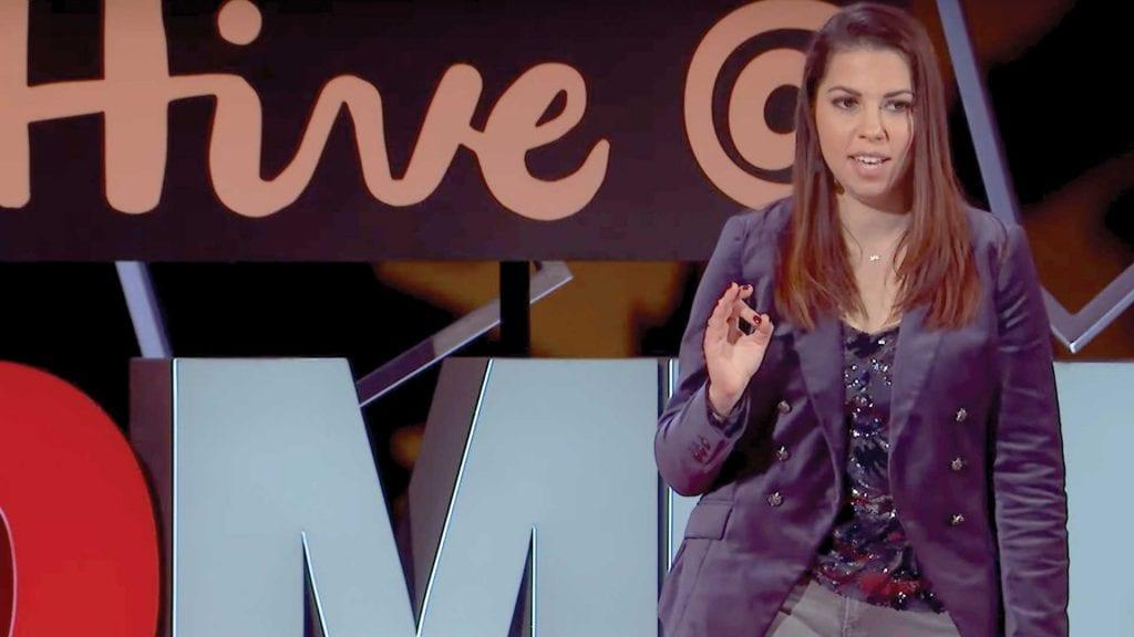 Nicole Gaudelli speaking at TED talk